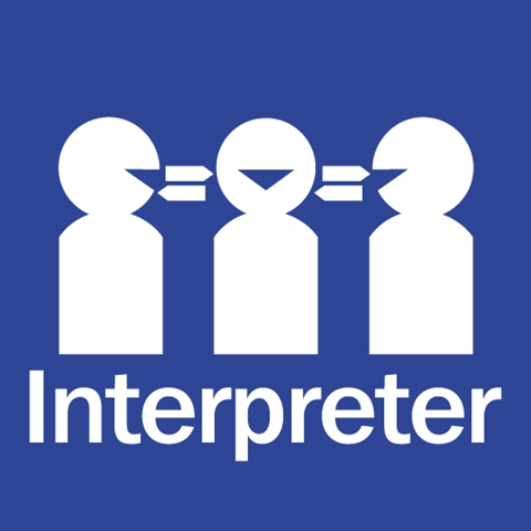 interpreter symbol text